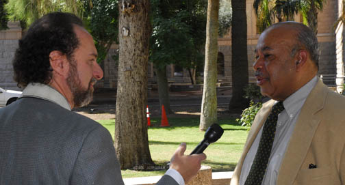 Ward Connerly speaks with reporter from Capital Media on AZ Civil Rights Initiative