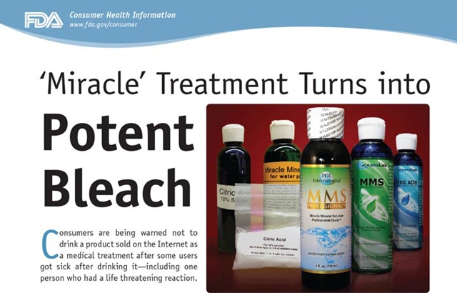 "FDA's ""MMS is Bleach"" Poster"