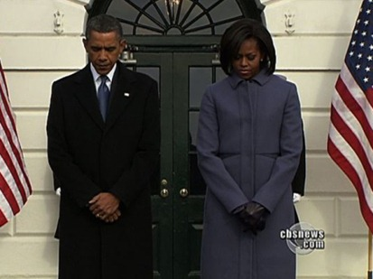 The President and First Lady pay their respects to the Fallen in Tucson
