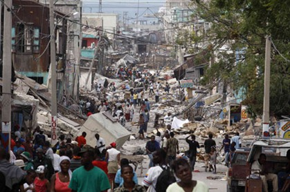 Haiti earthquake aftermath.