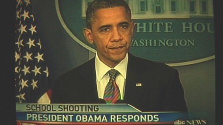 President Obama responds to the school shooting.