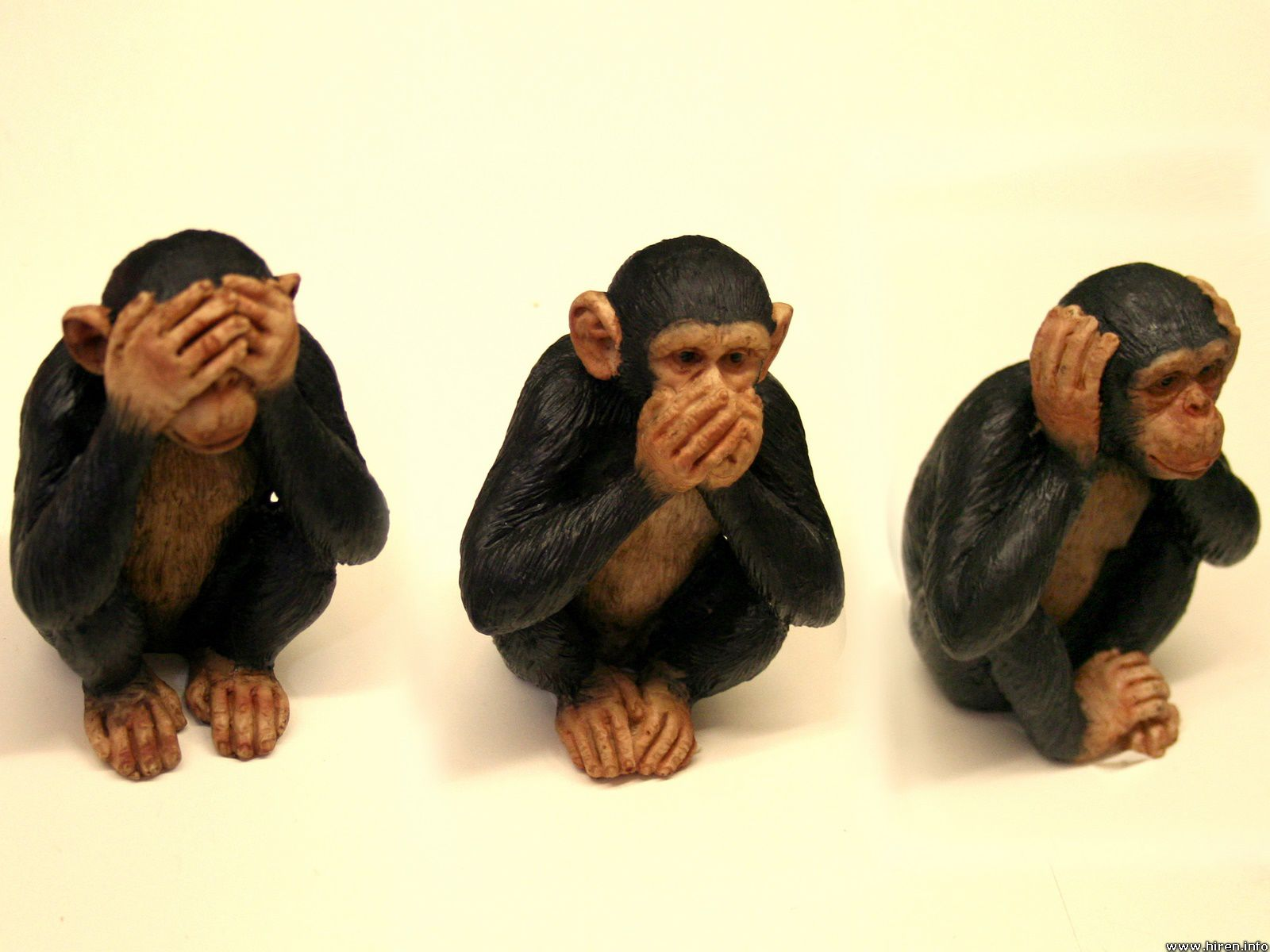 See no evil, speak no evil, hear no evil.