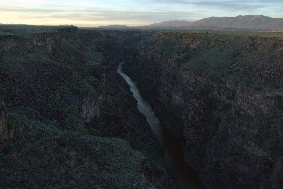The Rio Grande Gorge and river, near Taos, NM.