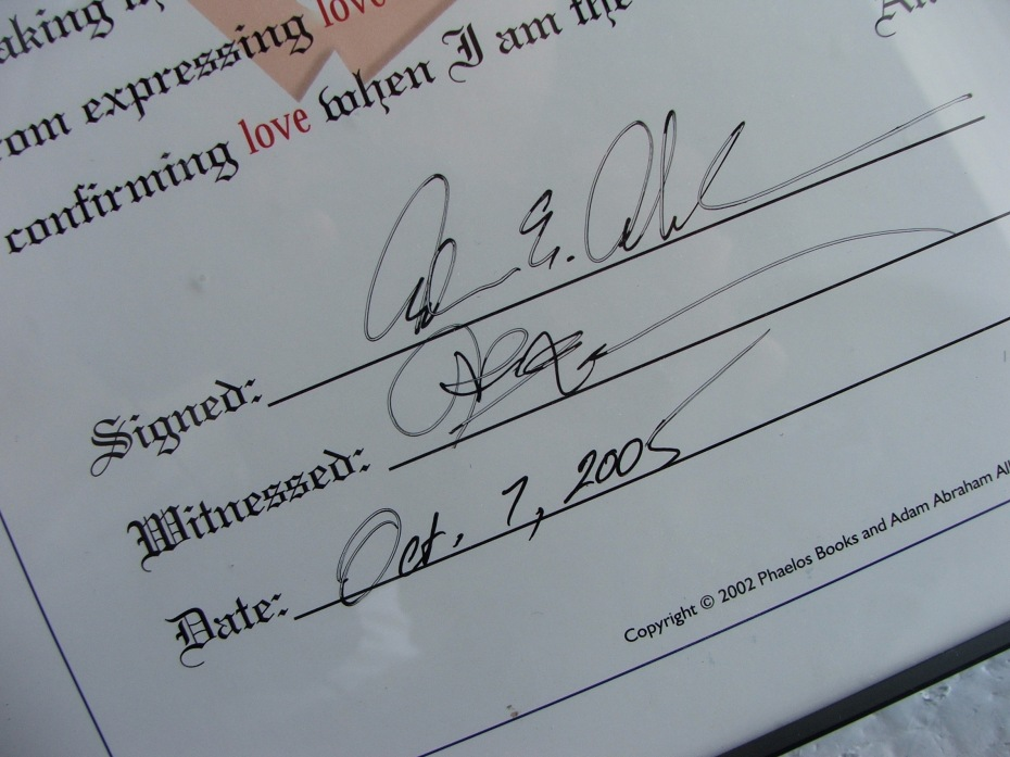 Love Proclamation -- Signed